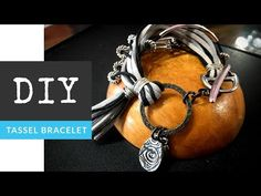 How To Make A Funky Wire Cord Tassel & Charm Bracelet - YouTube