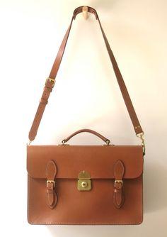 Vintage Style Leather Satchel  Briefcase by AustralianSatchel