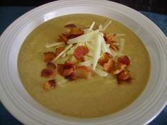 Roasted Cauliflower Potato Leek and Garlic Soup