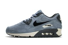 Nike Air Max 90 Navy Blue Perforated Suede