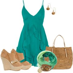 summer stroll by johnna-cameron on Polyvore featuring Faith Connexion, Jimmy Choo, Michael Kors, Mulberry, Monsoon and Faliero Sarti