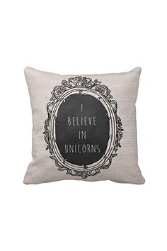 Pillow Cover I Believe in Unicorns Cotton