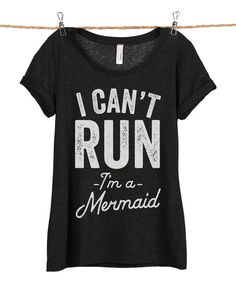 Look at this Heather Black 'I'm A Mermaid' Scoop Neck Tee - Women & Plus on #zulily today!