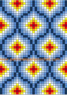 Free cross stitch pattern or tapestry crochet Bargello Patterns, Tapestry Crochet Patterns, Bead Loom Patterns, Cross Stitch Patterns, Broderie Bargello, Bargello Needlepoint, Bargello Quilts, Cross Stitching, Cross Stitch Embroidery