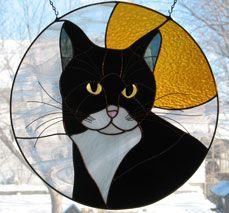 Tuxedo Cat by Gemini Glass