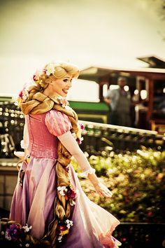 Rapunzel at Disney World