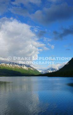 Kenai Lake Cooper Landing Alaska Mountains Reflections Clouds Blue Sky Summer River  http://drakeexplorationsphotography.zenfolio.com