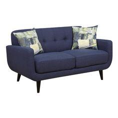 Aria Linen Modern Loveseat   Weekends Only Furniture and Mattress