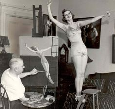 Edward Eggelston painting model, Edith Backus, 1936. Courtesy of Cleveland State University.