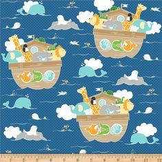 Riley Blake Little Ark Main Blue - fabric.com
