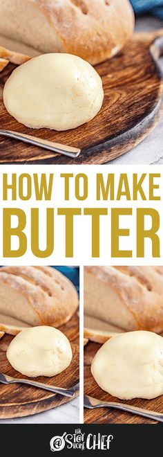 Learn how to make Homemade Butter 2 different ways in this fun old fashioned activity for kids and adults alike! It's easy to churn your own butter and make your own buttermilk! Stay At Home Chef, Good Food, Yummy Food, Homemade Butter, Butter Recipe, Canning Recipes, Brunch, Diy Food, Queso