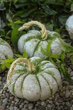 idées de citrouille Here's a fun Pumpkin idea for your fall decor! Of all the pumpkin ideas I would have to say these concrete pumpkins really stuck to me. They are super versatile and take under an hour Cement Art, Concrete Crafts, Concrete Projects, Concrete Garden, Cement Statues, Plaster Crafts, Diy Projects For Fall, Fall Crafts, Diy Crafts