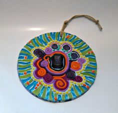 Hey, I found this really awesome Etsy listing at https://www.etsy.com/ca/listing/252385804/wall-hanging-mosaic-art-cd-art