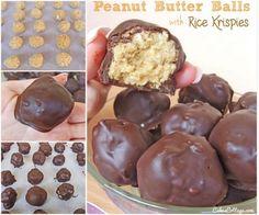 4 Ingredient Peanut Butter Rice Krispie Balls