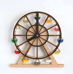 State of Green wooden clock