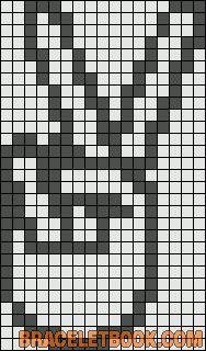 Alpha Friendship Bracelet Pattern #2055 - BraceletBook.com