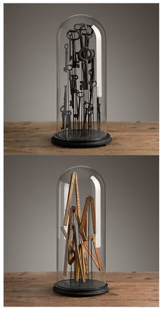 The Glass Cloche: they have been everywhere for 10 or so years, almost all of us have one, and I'm willing to bet most of them sit empty :) Reimaginists versions of the Glass cloche via Restoration Hardware