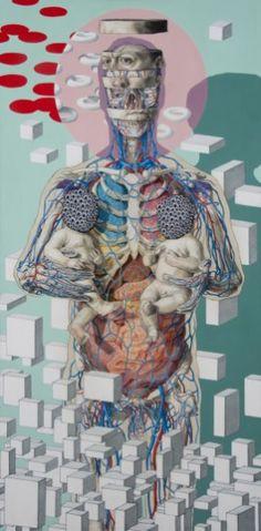 Michael Reedy revisa los temas eternos de la vida, la muerte y la condición humana. Sumado a su interés acerca de la anatomía humana, la ilustración médica, la ornamentación, la comedia negra, y lo…