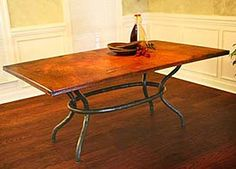 love love love these copper top table - Copper Kitchen Table