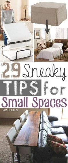 A ton of clever hacks for small homes and apartments! You may find that you need less space than you think. | http://Listotic.com
