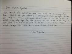 Donnie Darko's letter to Roberta Sparrow