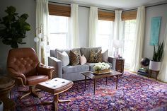 Colorful rug & velve
