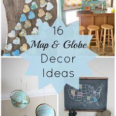 16 Map and Globe Decor Ideas