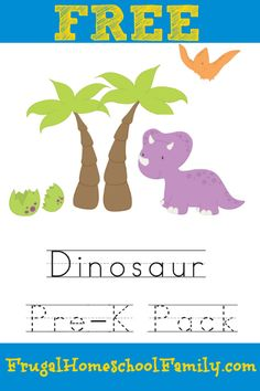FREE Dinosaur Pre-K Pack (color match, letter D)