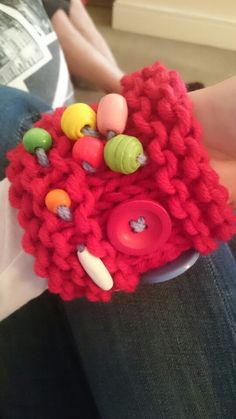 Twiddle Cuff for a person with Autism.