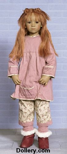 "This is my 2004 ""Gitta"" by Annette Himstedt in her original outfit. She is 33"" tall!"