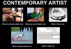 What people thinks Contemporary Artist do.