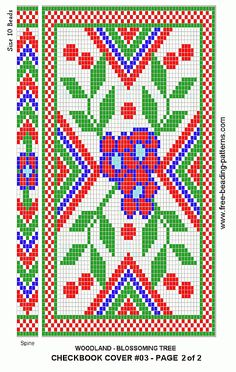 free beading patterns | free-beading-pattern-checkbook-cover-woodland-blossoms-2