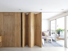 36 Trendy Ideas for wall partition design space dividers bedrooms Small Apartments, Small Spaces, Moving Walls, Design Plano, Movable Walls, Room Divider Doors, Room Partition Designs, Wall Partition, Ideas Hogar