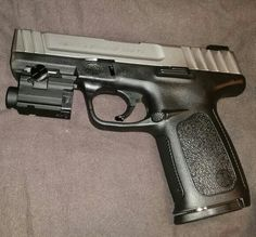 My Smith & Wesson SD9VE with its laser. It's been the only gun to never failed me.