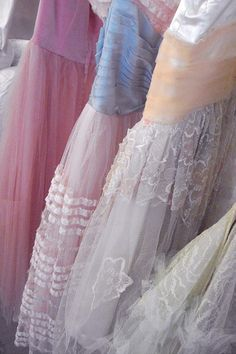 Lovely lacy vintage dresses.