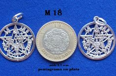 m 18 pentagrama del tamaño de esa moneda de 10 pesos mx