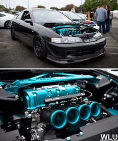 uhmm hello blue and black engine bay!