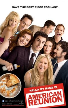"""Join Chris and the Fanatics for """"AMERICAN REUNION"""" on Friday April at AMC Del Amo 18 in Torrance! The entire cast of the """"American Pie"""" films has reunited for this reboot of the iconic franchise. We're hoping it delivers the comedy goods! Comedy Movies, Hd Movies, Movies And Tv Shows, Movies Online, Movie Tv, Movie Sequels, Funny Comedy, Watch Movies, American Pie 4"""