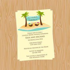 Cute Beach Themed Bridal Shower