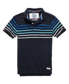 Ladies Womens Manga Polo Collar Stripe T-Shirt 10-12 Medium New