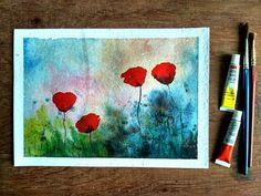 How to paint a flower with watercolor - Paint with david - YouTube