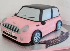 Novelty Pink Mini Car Cake
