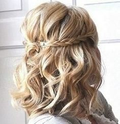 Half back hair with braids and curls.