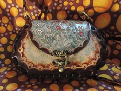 Hippie REMAKE BOHO leather bag, From my original 1970s pattern. by RoundOakLeather on Etsy