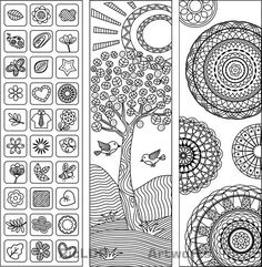 Three Coloring Bookmarks