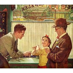 The Jewelry Shop by Norman Rockwell