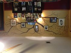 Family tree wall By. Billy Flurry (yeah, my husband did that!)