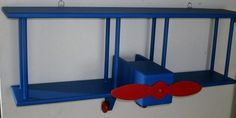 Bi-plane Wall Shelf Blue/red
