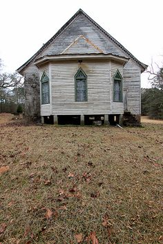 Abandoned church, Taliaferro County, Georgia