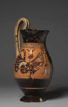 Corinthian Olpe (Pitcher), c. 575 BC Greece, Corinth, 6th Century BC black-figure terracotta